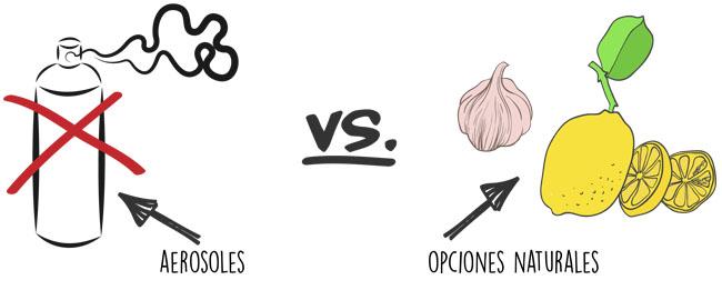 aerosoles vs opciones naturales
