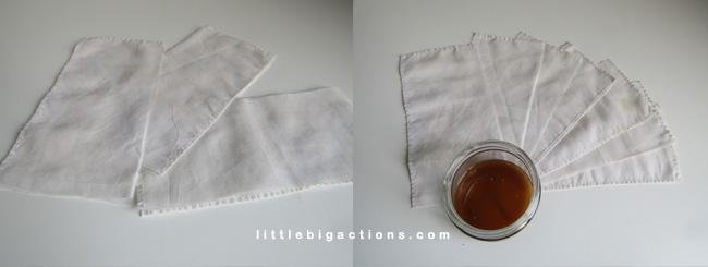 Tiras depilatorias de algodón